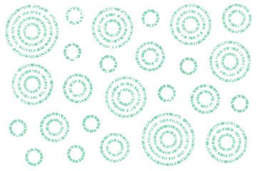 Watercolor abstract circles pattern.