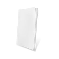 Template blank magazine. Illustration isolated on white background