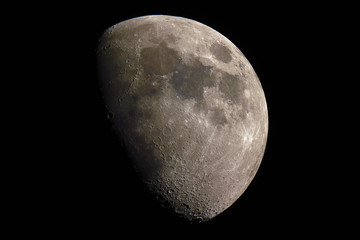 Mineral Moon in waxing gibbous phase.