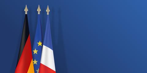 drapeau - France - Allemagne - Européen -présentation - français - Allemand - fond