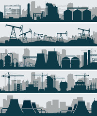 Industrial skyline set