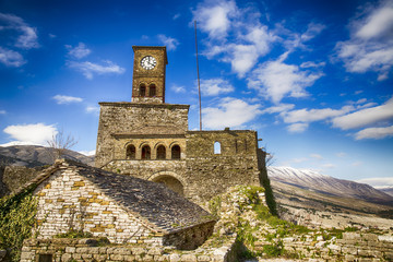 Clock Tower at the Castle of Gjirokaster, Albania