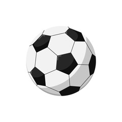 Soccer ball isolated vector icon. Athletic equipment, healthy lifestyle, fitness activity vector illustration.