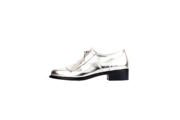 handmade specia design man shoe on white background