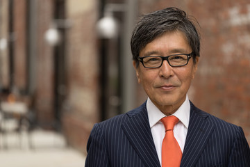 Asian businessman face portrait