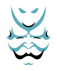 Japanese drama Kabuki face