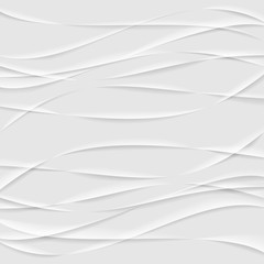 Abstract Wrinkled Paper Background Texture. Modern White Vector Illustration.
