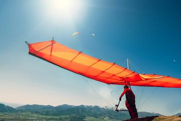 Foto op Aluminium Luchtsport Hang-glider starting to fly