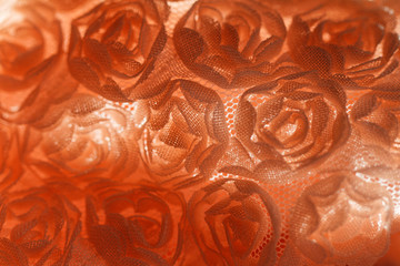 Peach-colored roses material