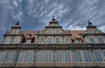 Foto op Textielframe Artistiek mon. Facade historic tenement houses building in Gdansk.