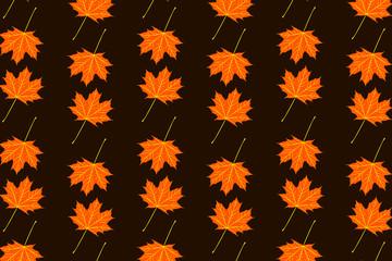 Maple leaf - vector pattern, Autumn - vector background
