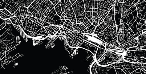 Urban city map of Oslo, Norway