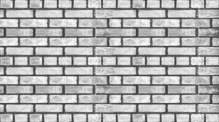abstract black white background seamless of brick wall texture.