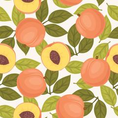 Seamless peach pattern