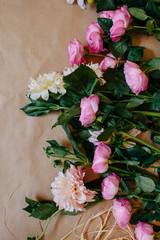 blush delilahs and pink garden roses