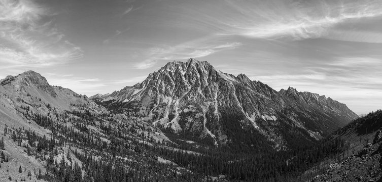 View of Mount Stuart from Longs Pass, Central Cascades, WA