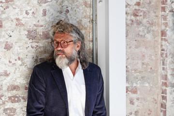 Portrait of man with gray beard