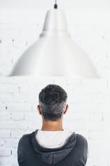 Men's head from behind