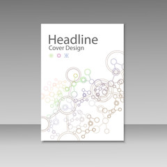Cover brochure template with connect molecule background