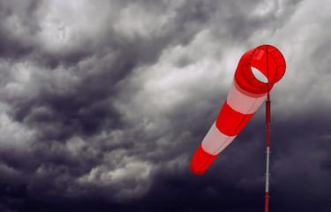 Foto op Textielframe Onweer Sturmsack, aufkommendes Gewitter mit Sturm - Konzept