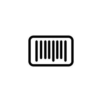 barcode, scanning, line black icon