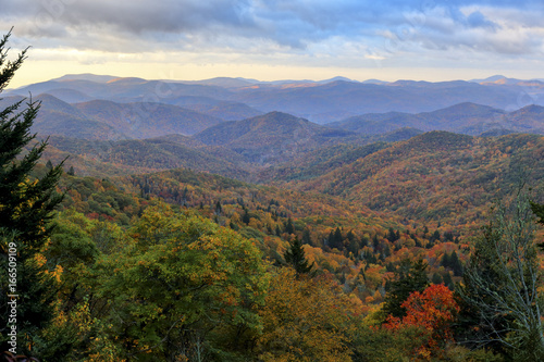 Blue Ridge Mountains At Sunrise Near Asheville North