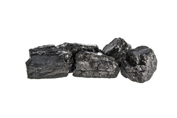 coal on an isolated white background