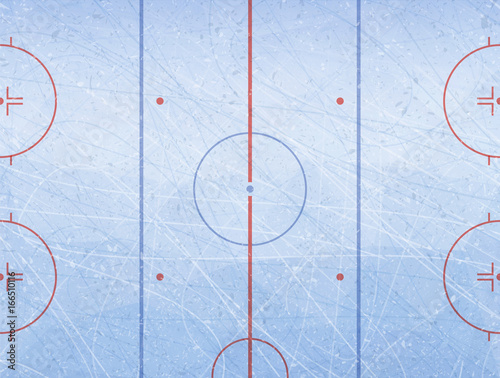 Vector Of Ice Hockey Rink Textures Blue Ice Ice Rink Vector