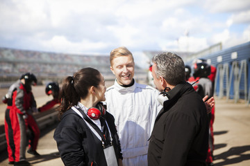 Racing Driver manager and PR on track