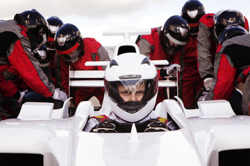 Auto racing team and driver
