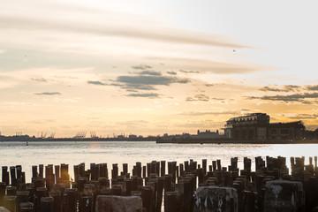 Orange Sunset Sky In New York City pt 3