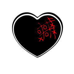 Heart icon, outline, silhouette. Symbol of love, romance and relationships