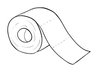toilet paper roll vector symbol icon design. Beautiful illustration isolated on white background