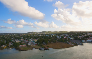 Saint John's harbor and waterfront - Antigua and Barbuda - Caribbean sea