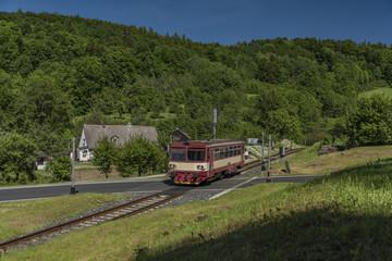Train near Vapenna station in north Moravia