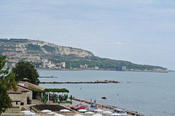 The coast of Bulgaria. Parks, the embankment.