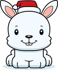 Cartoon Smiling Xmas Bunny