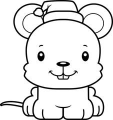 Cartoon Smiling Xmas Mouse