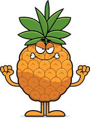 Angry Cartoon Pineapple