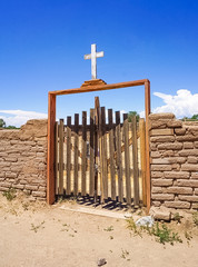 The Cemetary Gate at Taos Pueblo in Taos New Mexico