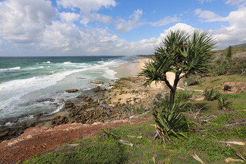 Kings Beach on the Sunshine Coast of Queensland in Australia