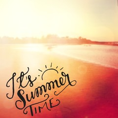 Inspirational Quote with summer style lens flare