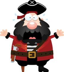 Scared Cartoon Pirate