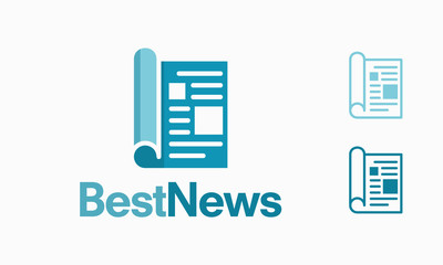 Modern newspaper logo Template, Best News Logo template designs vector illustration