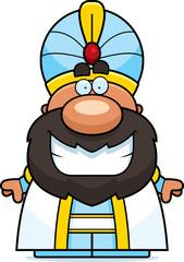 Cartoon Sultan Smiling