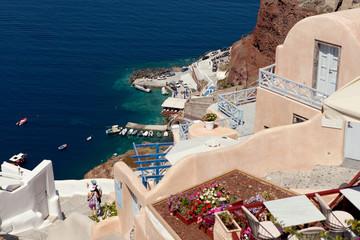 Santorini Island,  stairs to the sea