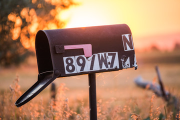 Old Mailbox in Rural Sunset