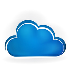 Cloud computing network. storage concept icon logo