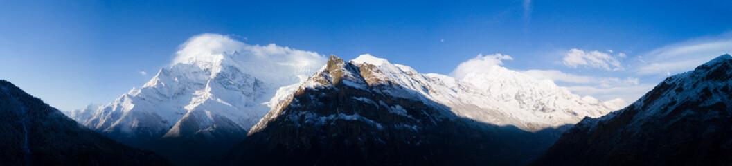 Panorama Annapurna Mountain Range Himalayas Nepal