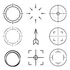 dart chart, focus symbol